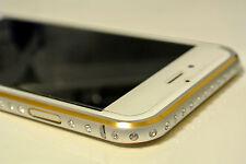 Silver Luxury Diamond Crystal Metal Aluminum Bumper Case Cover for iPhone 6 Plus