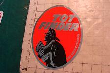 Vintage Unused Decal: TOT FINDER fire rescue program c. 1972 picked up 1984