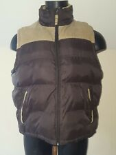 Cedarwood State Mens Brown Puffer Gilet Coat  Size Large Zip Up Front