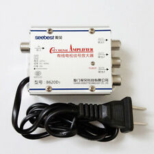 1 Set In 3 Out TV Antenna Signal Mayitr 45-860MHz 20dB Splitter Booster