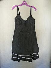 Torrid Retro Pinup Rockabilly Black Polka Dot Dress Size 12 NWT