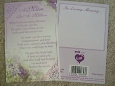 "IN LOVING MEMORY ""A MUM IN A MILLION"" - GRAVESIDE MEMORIAL CARD"