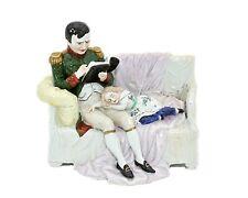 Napoléon et son fils l'aiglon assis dans le divan porcelaine de Saxe - RARE