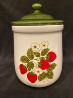 Vintage - McCoy Pottery - Small Strawberry Canister - Approximately 7 ½ ""
