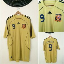 ADIDAS SPAIN TORRES #9 JERSEY GOLD A.F.C.F 12/08 MENS 2XL MADE IN THAILAND NEW