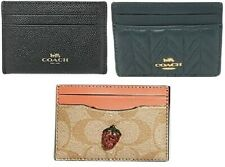 Coach F57312,F73000,F73079 Flat Card Case Holder Slim wallet  Black, Coral
