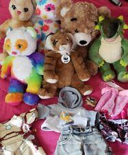Build A Bear Bunny Dinosaur Panda Tiger Teddy Clothes Outfits Plush Lot of 6