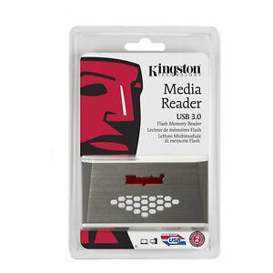 Kingston FCR-HS4 USB3.0 High-Speed Card Reader for CF, SD, MicroSD, Memory Stick