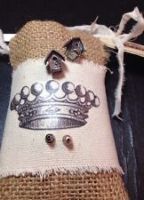 in nice package New great gift Birdhouse earrings pierced - pewter ; adorable