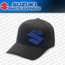 NEW SUZUKI S FADE BLACK/BLUE LOGO FLEXFIT HAT L/XL GSXR RMZ DRZ BUSA 990A0-17108