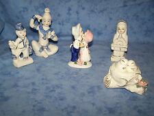 Konvolut 5 Deko Figuren Porzellan,Pärchen,Vögel,Junger Mann,Schwester,Pierrot
