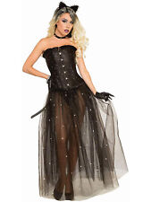 Black Mesh Womens Adult Fantasy Witch Costume Overlay Skirt
