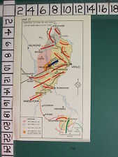 WW2 MAP OPERATIONS CLEAR WEST BANK RIVER MAAS 12 OCT - 3 DEC VENLO GERMAN ATTACK