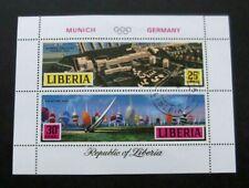 Liberia-1971-Munich Olympics Minisheet-Used