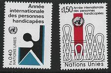 United Nations Scott #Geneva 99-100, Singles 1981 Complete Set FVF MNH