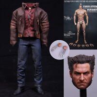"""1/6 Scale X-Men Wolverine Hugh Jackman Clothes Suit For 12"""" Figure Body Hot Toys"""