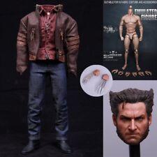 """Escala 1/6 X-men Guepardo Hugh Jackman ropa traje para 12"""" figura cuerpo Hot Toys"""