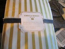 Pottery Barn Teen Emily & Meritt Skinny Stripe Sheet Set queen gold New