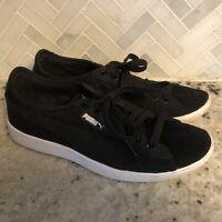 PUMA Vikky Mesh Sneakers Shoes Black White Women's Size 8