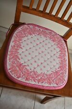 Williams-Sonoma chair cushion pads set of 4 PCS French Provincial pink & white