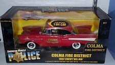 1/18 & 1/64  ERTL COMA FIRE DISTRICT 1957 CHEVROLET BEL AIR RED yd