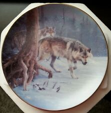 """Bradford Exchange """"Eyes of the North"""" Winter Guardians collector plate (1996)"""