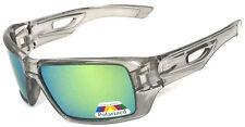 Polarized Eyepatch Mens Designer Sunglasses - Transparent Grey / Jade Green