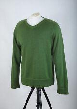 P468/34 Gap V Neck Green Cotton/Wool Jumper, size L/G