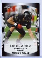 "ANTONIO ALFANO 2019 LEAF ""1ST EVER PRINTED ALL-AMERICAN ROOKIE CARD! ALABAMA!"
