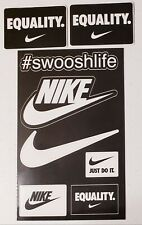Nike Just Do It Swoosh Equality collectible stickers.