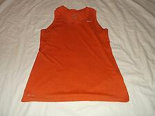 Women's NIKE Dri Fit Sleeveless Tank Top T Shirt Sz Medium M  100% Polyester