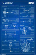 Star Wars- Rebel Blueprint Poster Print, 22x34