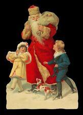 vintage style Die Cut Santa Claus Father Christmas Scrap Scrapbook projects