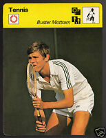 BUSTER MOTTRAM British Tennis Player Photo 1978 SPORTSCASTER CARD 52-21