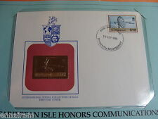 Montserrat FDC w/ 23 kt gold replica stamp 1986 Communications Honored