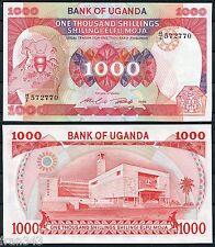 UGANDA 1000 Shillings 1986  Pick  26  SC / UNC