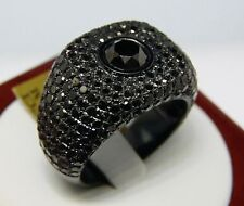 Mens Black Diamonds Solitaire Pinky Ring 7.67 Ct