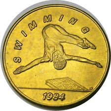 elf 1984 Olympics Bus Token  Swimming