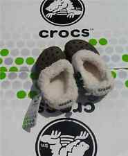 CROCS MAMMOTH BLITZEN POLAR KIDS BAYA CLOG SHOE~Brown White~Junior 2 W 4~NWT