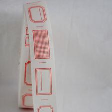 Zakka Cotton Fabric Ribbon Tape - Blank Sewing Label - Red Border - 34mm