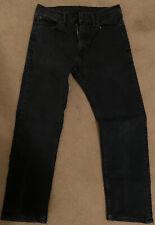 Levis Men's 505 Regular Fit Dark Wash Denim Jeans 33x30