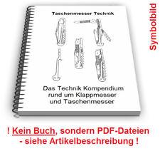 Taschenmesser selbst bauen - Klappmesser Schale Klinge Werkzeug Technik Patente