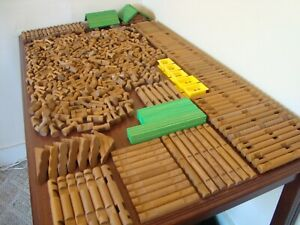 Tumbletree Logs Huge LOT 502 Pieces 5 Roofs Windows Lincoln Logs Compatible