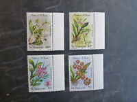 1985 ORCHIDS OF St VINCNT SET OF 4 MINT STAMPS MNH