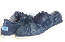 New Toms Men Cordones Casual  Blue Canvas Denim Lace Up Shoe Sneaker Size 11
