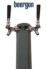 """2-TAP BEER TOWER COOLER INSULATOR - KEGERATOR TOWER COVER - 3"""" W X 12.5-13.5"""" H"""