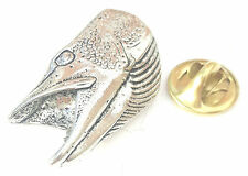 Fish Head Handcrafted from English Pewter in the UK Lapel Pin Badge