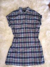 J Crew SHIRTDRESS IN VINTAGE PLAID Cotton Shirtdress M $118 Style f1327 SOLDOUT!