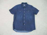 Levis Pearl Snap Shirt Adult Large Blue Red Tab Western Rodeo Cowboy Casual Mens