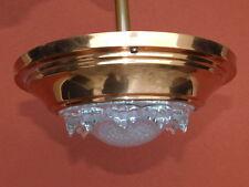 LAMPE ezan en CUIVRE coupelle suspension ANCIEN vintage OLD LAMP küpfer COPPER